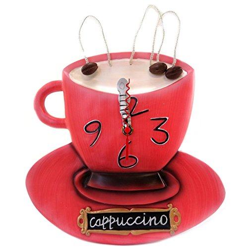 壁掛け時計 振り子時計 インテリア 海外モデル アメリカ Wall clock 'Allen Designs'cappuccino red - 39x25 cm (15.35''x9.84'').壁掛け時計 振り子時計 インテリア 海外モデル アメリカ