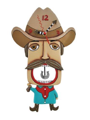 壁掛け時計 振り子時計 インテリア 海外モデル アメリカ Allen Designs `Mustache Amigo` Cowboy Pendulum Wall Clock壁掛け時計 振り子時計 インテリア 海外モデル アメリカ