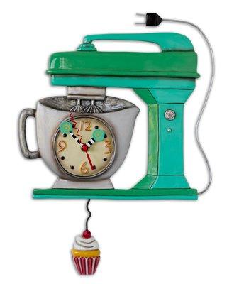 壁掛け時計 振り子時計 インテリア 海外モデル アメリカ Allen Designs Vintage Mixer Green Clock壁掛け時計 振り子時計 インテリア 海外モデル アメリカ