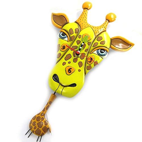 壁掛け時計 振り子時計 インテリア 海外モデル アメリカ Wall clock 'Allen Designs'giraffe (25x14 cm (0.00''x5.51'') ).壁掛け時計 振り子時計 インテリア 海外モデル アメリカ