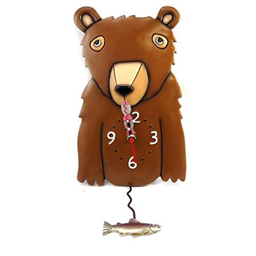 壁掛け時計 振り子時計 インテリア 海外モデル アメリカ Wall clock 'Allen Designs' brown bear (25x20 cm (0.00''x7.87'') ).壁掛け時計 振り子時計 インテリア 海外モデル アメリカ