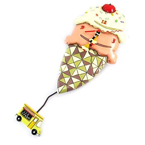 壁掛け時計 振り子時計 インテリア 海外モデル アメリカ Wall clock 'Allen Designs'ice cream cone (30x15 cm (0.00''x5.91'') ).壁掛け時計 振り子時計 インテリア 海外モデル アメリカ