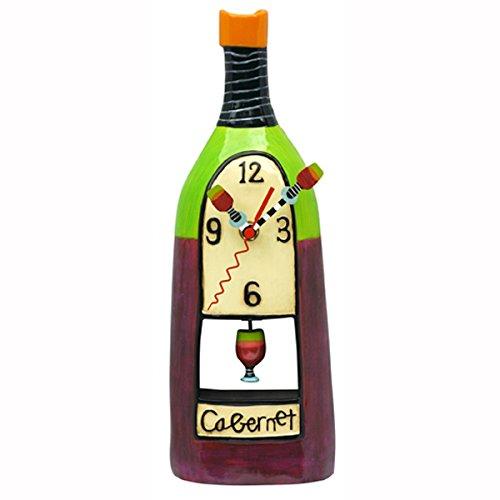 壁掛け時計 振り子時計 インテリア 海外モデル アメリカ Allen Designs Wine Cabernet Hand Painted Pendulum Wall Clock壁掛け時計 振り子時計 インテリア 海外モデル アメリカ