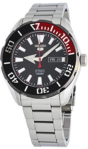 Black セイコー Stainless Watch腕時計 Automatic Men's SRPC57 Dial セイコー 5 100M 腕時計 メンズ Steel メンズ Sports 【送料無料】Seiko