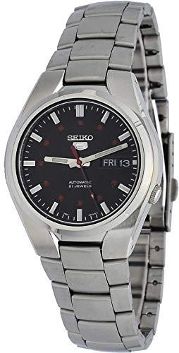 腕時計 セイコー メンズ 【送料無料】Seiko 5 SNK617 Men's Stainless Steel Black Dial Day Date Automatic Watch腕時計 セイコー メンズ