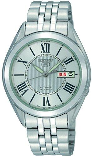 腕時計 セイコー メンズ 【送料無料】Seiko Men's SNKL29 Stainless Steel Analog with White Dial Watch腕時計 セイコー メンズ