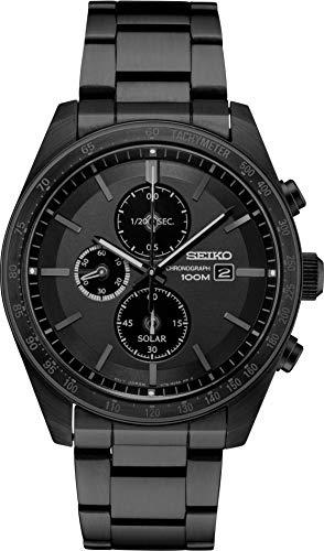 セイコー 腕時計 メンズ 【送料無料】Seiko Solar Chronograph Quartz Black Dial Men's Watch SSC721セイコー 腕時計 メンズ