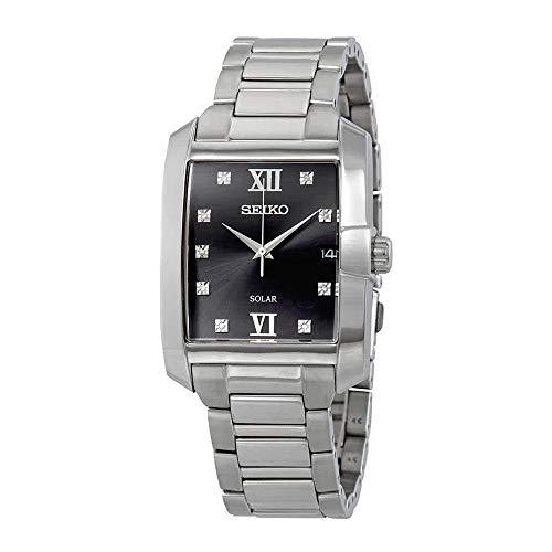 セイコー 腕時計 メンズ 【送料無料】Seiko SNE461 Mens Silver Core Solar Watchセイコー 腕時計 メンズ