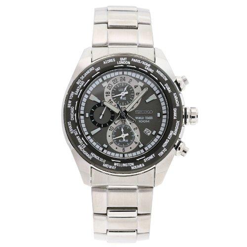 セイコー 腕時計 メンズ Seiko Men's SPL035 Criteria Stainless Steel Chronograph Grey Dial Watchセイコー 腕時計 メンズ