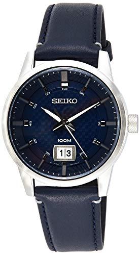 セイコー 腕時計 メンズ 【送料無料】Seiko Quartz Blue Dial Blue Leather Men's Watch SUR287セイコー 腕時計 メンズ