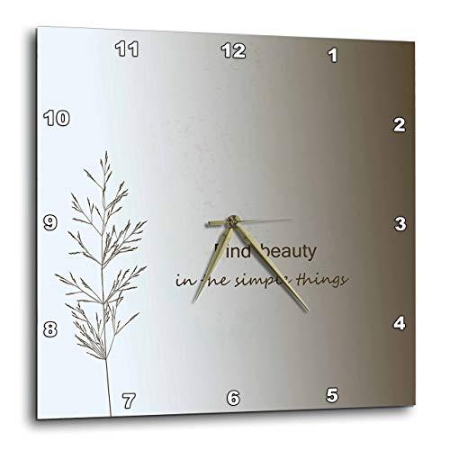 壁掛け時計 インテリア 海外モデル アメリカ 輸入 3dRose DPP_130524_3 Zen Find Beauty in Simple Things Cream Nature Art Wall Clock, 15 by 15-Inch壁掛け時計 インテリア 海外モデル アメリカ 輸入