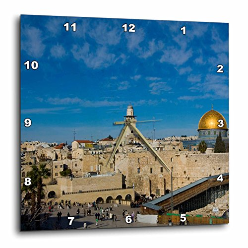 壁掛け時計 インテリア 海外モデル アメリカ 輸入 3dRose DPP_72719_3 Israel, Jerusalem, Western Wall & Dome of The Rock-As14 Apa0127 Aldo Pavan Wall Clock, 15 by 15