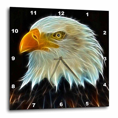 壁掛け時計 インテリア 海外モデル アメリカ 輸入 3dRose DPP_97853_3 Fractal Color Outlined Bald Eagle-Wall Clock, 15 by 15-Inch壁掛け時計 インテリア 海外モデル アメリカ 輸入
