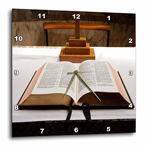 壁掛け時計 インテリア 海外モデル アメリカ 輸入 3dRose Print of Open Bible On Pulpit in Church - Wall Clock, 15 by 15-Inch (DPP_212861_3)壁掛け時計 インテリア 海外モデル アメリカ 輸入