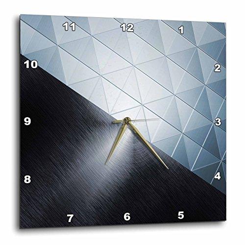 壁掛け時計 インテリア 海外モデル アメリカ 輸入 3dRose Two Texture Triangle Pane and Brushed Silver Metal Effect - Wall Clock, 15 by 15-Inch (DPP_213886_3)壁掛け時計 インテリア 海外モデル アメリカ 輸入