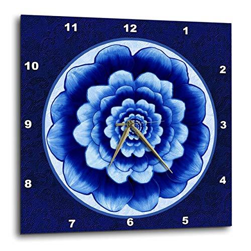 壁掛け時計 インテリア 海外モデル アメリカ 輸入 3dRose dpp_31753_2 Pastel Blue and Cobalt Fantasy Mandala Flower on Royal Blue Background-Wall Clock, 13 By 13-Inch壁掛け時計 インテリア 海外モデル アメリカ 輸入