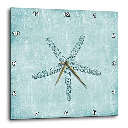 壁掛け時計 インテリア 海外モデル アメリカ 輸入 3dRose dpp_178911_3 Aqua Starfish Abstract Beach Theme-Wall Clock, 15 by 15-Inch壁掛け時計 インテリア 海外モデル アメリカ 輸入