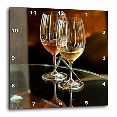 壁掛け時計 インテリア 海外モデル アメリカ 輸入 3dRose USA, Washington, Walla Glasses of Wine at Winery Release Party Wall Clock, 15
