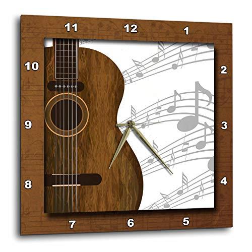 壁掛け時計 インテリア 海外モデル アメリカ 輸入 3dRose DPP_149974_2 Guitar Music Concept Wall Clock, 13 x 13壁掛け時計 インテリア 海外モデル アメリカ 輸入