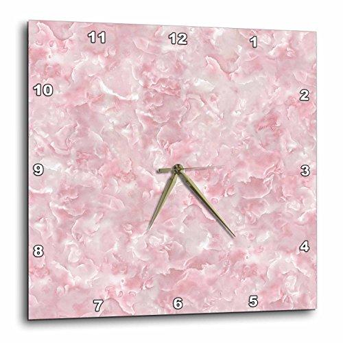 壁掛け時計 インテリア 海外モデル アメリカ 輸入 3dRose Uta Naumann Faux Glitter Pattern - Image of Trendy Luxury Rose Quartz Pink Gemstone Agate Geode - 15x15 Wall Clock (dpp_275121_3)壁掛け時計 インテリア 海外モデル アメリカ 輸入