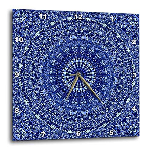 壁掛け時計 インテリア 海外モデル アメリカ 輸入 3dRose David Zydd - Floral Mandalas - Blue Geometric Floral Mandala - Abstract Bohemian Design - 15x15 Wall Clock (DPP_301072_3)壁掛け時計 インテリア 海外モデル アメリカ 輸入