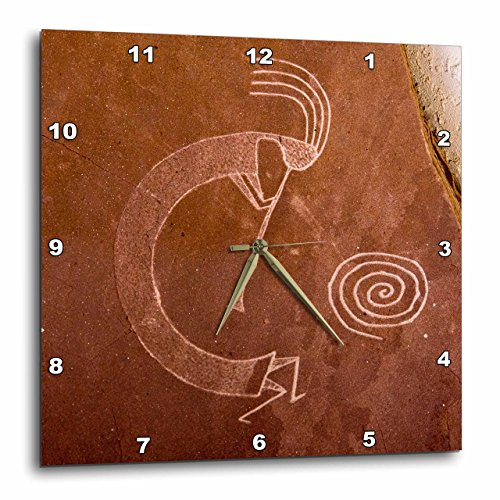 壁掛け時計 インテリア 海外モデル アメリカ 輸入 3dRose Pictographs of The Pueblo Indians, Native American - Us32 Awy0010 - Angel Wynn - Wall Clock, 15 by 15