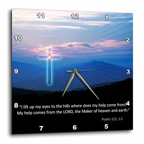 壁掛け時計 インテリア 海外モデル アメリカ 輸入 3dRose Christian - Inspirational Psalm - Wall Clock, 15 by 15-Inch (DPP_218867_3)壁掛け時計 インテリア 海外モデル アメリカ 輸入