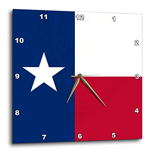壁掛け時計 インテリア 海外モデル アメリカ 輸入 3dRose DPP_158447_3 Flag of Texas TX US American United State of America USA Blue Red White The Lone Star Flag Wall Clock, 15 by 15