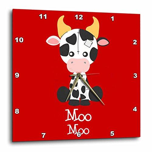 壁掛け時計 インテリア 海外モデル アメリカ 輸入 3dRose Janna Salak Designs Kids Stuff - Cute Cow Talk Moo Moo Nursery Art - 15x15 Wall Clock (DPP_283565_3)壁掛け時計 インテリア 海外モデル アメリカ 輸入