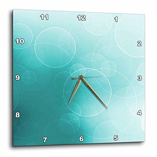 壁掛け時計 インテリア 海外モデル アメリカ 輸入 3dRose DPP_152883_3 Pretty Floating White Circles on a Shimmering Turquoise Background Wall Clock, 15 by 15-Inch壁掛け時計 インテリア 海外モデル アメリカ 輸入