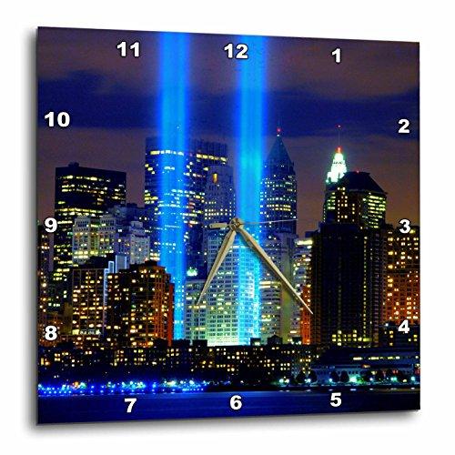 壁掛け時計 インテリア 海外モデル アメリカ 輸入 3dRose DPP_61470_3 Beautiful Photograph of The Twin Towers 911 Memorial Lights Never Forget Wall Clock, 15 by 15-Inch壁掛け時計 インテリア 海外モデル アメリカ 輸入