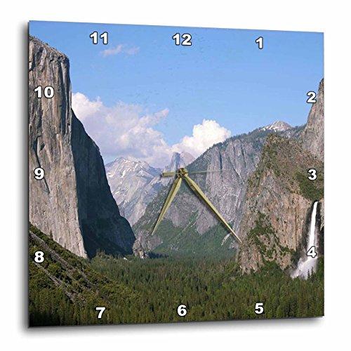壁掛け時計 インテリア 海外モデル アメリカ 輸入 3dRose El Capitan and Bridalveil Falls in Yosemite National Park - Wall Clock, 15 by 15-Inch (DPP_36441_3)壁掛け時計 インテリア 海外モデル アメリカ 輸入