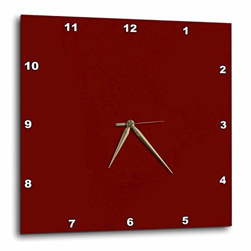 壁掛け時計 インテリア 海外モデル アメリカ 輸入 3dRose DPP_32079_2 Rust Red Wall Clock, 13 by 13