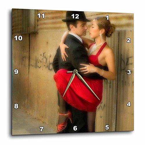 壁掛け時計 インテリア 海外モデル アメリカ 輸入 3dRose DPP_85203_2 Argentina, Buenos Aires, La Boca. Tango Dancing-Sa01 Bja0010-Jaynes Gallery-Wall Clock, 13 by 13-Inch壁掛け時計 インテリア 海外モデル アメリカ 輸入