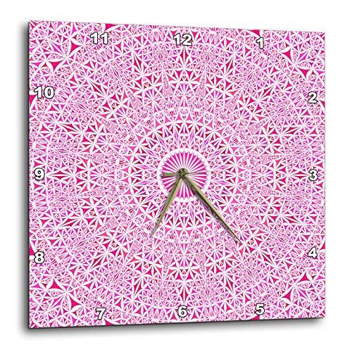 壁掛け時計 インテリア 海外モデル アメリカ 輸入 3dRose David Zydd - Kaleidoscope Mandalas - Pink Triangle Kaleidoscope Mandala - Bohemian Abstract Graphic - 15x15 Wall Clock (DPP_300459_3)壁掛け時計 インテリア 海外モデル アメリカ 輸入