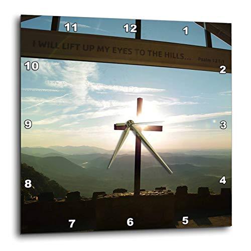 壁掛け時計 インテリア 海外モデル アメリカ 輸入 3dRose Stamp City - Landscape - I Will Lift My Eyes up to The Hills. Sunrise at Pretty Place Chapel. - 15x15 Wall Clock (DPP_301372_3)壁掛け時計 インテリア 海外モデル アメリカ 輸入