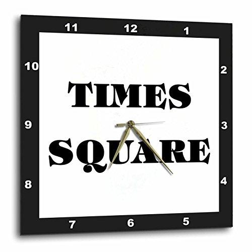 壁掛け時計 インテリア 海外モデル アメリカ 輸入 3dRose dpp_62656_3 Huge Words Saying Times Square Which is in New York Wall Clock, 15 by 15-Inch壁掛け時計 インテリア 海外モデル アメリカ 輸入