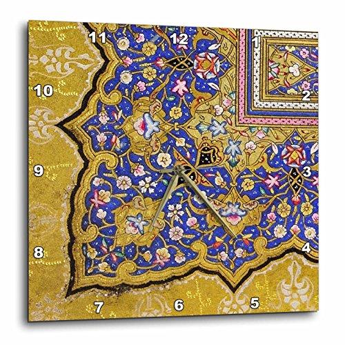 壁掛け時計 インテリア 海外モデル アメリカ 輸入 3dRose dpp_162530_3 Purple and Matte Gold Arabian Floral Pattern. Persian Style Flowers and Swirls. Arab Islamic Turkish-Wall Clock, 15 by 15-Inch壁掛け時計 インテリア 海外モデル アメリカ 輸入