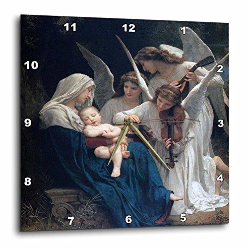 壁掛け時計 インテリア 海外モデル アメリカ 輸入 3dRose dpp_173840_3 Song of The Angels, Adolphe William Biographic Playing for Baby Jesus-Wall Clock, 15 by 15-Inch壁掛け時計 インテリア 海外モデル アメリカ 輸入