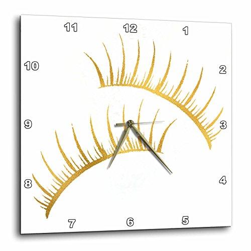 壁掛け時計 インテリア 海外モデル アメリカ 輸入 3dRose Image of Glitzy Glam Gold Girly Eyelashes Wall Clock, 13x13,壁掛け時計 インテリア 海外モデル アメリカ 輸入