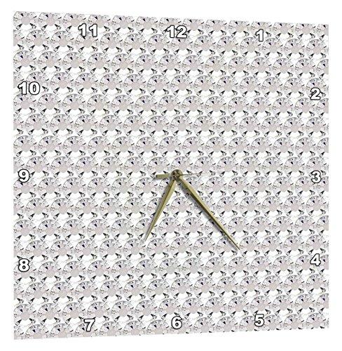 壁掛け時計 インテリア 海外モデル アメリカ 輸入 3dRose Clear Diamond Rhinestone Gem Print - Wall Clock, 15 by 15