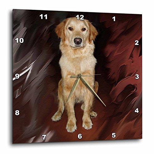 壁掛け時計 インテリア 海外モデル アメリカ 輸入 3dRose DPP_4551_2 Golden Retriever Wall Clock, 13 by 13