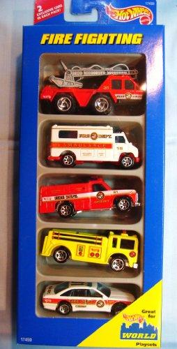 ホットウィール マテル ミニカー ホットウイール 【送料無料】Hot Wheels Fire Fighting Gift Pack #17459ホットウィール マテル ミニカー ホットウイール