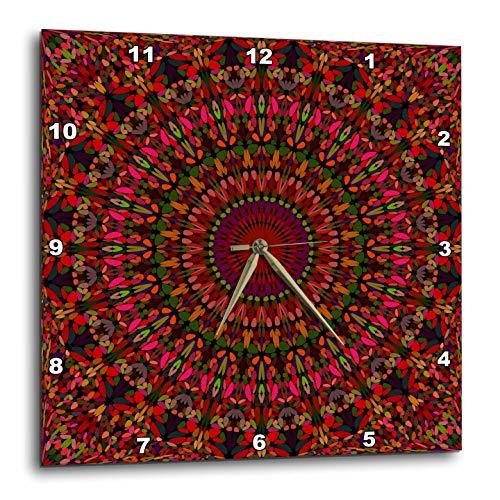 壁掛け時計 インテリア 海外モデル アメリカ 輸入 3dRose David Zydd - Floral Mandalas - Blooming Gravel Mandala - Bohemian Kaleidoscope Graphic - 15x15 Wall Clock (DPP_301699_3)壁掛け時計 インテリア 海外モデル アメリカ 輸入