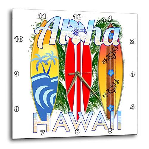 壁掛け時計 インテリア 海外モデル アメリカ 輸入 3dRose Macdonald Creative Studios ? Hawaii - Tropical Surfing and Island Aloha Hawaii Design with Surfboards. - 15x15 Wall Clock (DPP_299204_3)壁掛け時計 インテリア 海外モデル アメリカ 輸入