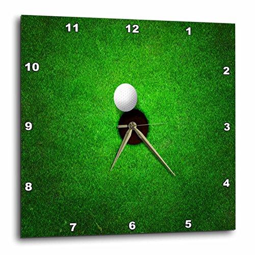 壁掛け時計 インテリア 海外モデル アメリカ 輸入 3dRose Ball Sitting at A Golf Hole On Grass Graphic-Wall Clock, 15-inch (DPP_213666_3)壁掛け時計 インテリア 海外モデル アメリカ 輸入
