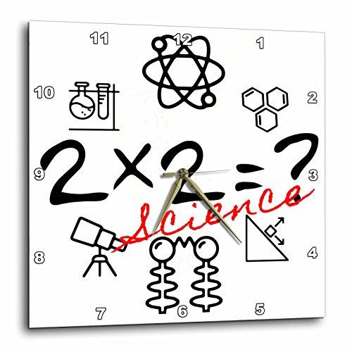 壁掛け時計 インテリア 海外モデル アメリカ 輸入 3dRose Alexis Design - Funny - Two times two question, scientific symbols, red text science on black - 13x13 Wall Clock (dpp_283696_2)壁掛け時計 インテリア 海外モデル アメリカ 輸入