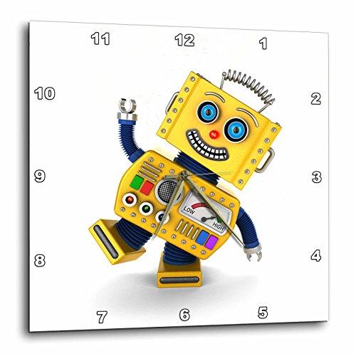 壁掛け時計 インテリア 海外モデル アメリカ 輸入 3dRose Yellow Toy Robot Goofing Around - Wall Clock, 13 by 13-Inch (DPP_172017_2)壁掛け時計 インテリア 海外モデル アメリカ 輸入