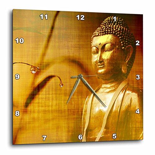 壁掛け時計 インテリア 海外モデル アメリカ 輸入 3dRose Golden Buddha with Asia Bamboo Zen Yoga Faith Religion Wall Clock 15x15壁掛け時計 インテリア 海外モデル アメリカ 輸入