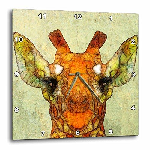 壁掛け時計 インテリア 海外モデル アメリカ 輸入 3dRose Abstract Giraffe - Funny Giraffe - Wall Clock, 15 by 15-Inch (DPP_201606_3)壁掛け時計 インテリア 海外モデル アメリカ 輸入